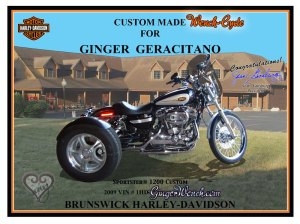 Custom made Harley Sportster 1200C Trike with Champion conversion kit