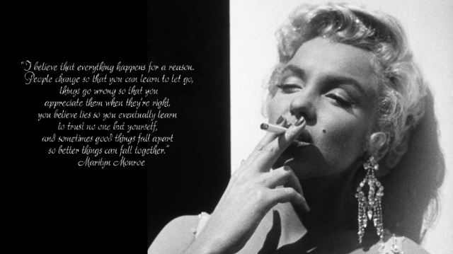 Marilyn Monroe quotes and wallpaper